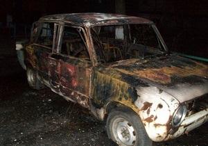 Сегодня ночью в Киеве горели автомобили