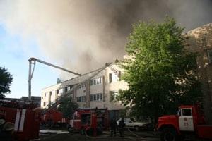 Сегодня ночью в Киеве в Новой Дарнице произошел масштабный пожар