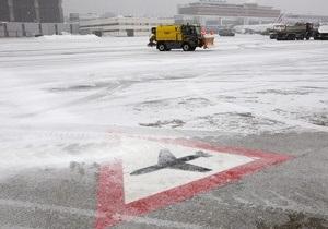 Снегопады в Европе: Аэропорт Борисполь отменил ряд международных рейсов