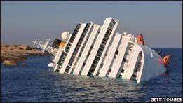 Откачку топлива с Costa Concordia прекратили из-за непогоды