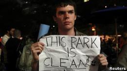Оккупанты Уолл-стрит  не хотят покидать занятый парк