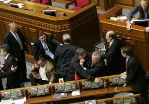 Ъ: Украинские депутаты провели день без галстуков