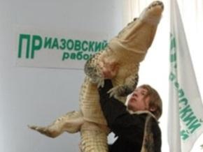 Дрессировщик легендарного Годзиллы привез в Мариуполь нового крокодила
