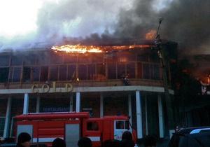 Пожар в донецком ночном клубе локализован