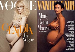 Клаудия Шиффер обнажилась для Vogue на девятом месяце беременности