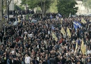 Грузинская оппозиция потребовала освободить политзаключенных