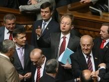 БЮТ заблокировал трибуну. Яценюк закрыл заседание