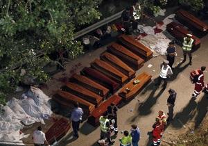 Количество жертв крушения туристического автобуса в Италии растет