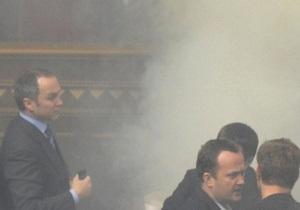 Беспорядки в Раде: Шуфрич выяснит, из чего были сделаны дымовые шашки