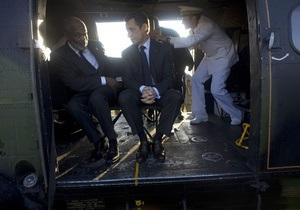Саркози прибыл на Гаити и пообещал выделить 270 млн евро помощи