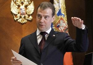 Медведев призвал Каддафи прекратить уничтожение гражданского населения