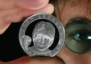 В Британии выпустили монету с изображением Джона Леннона