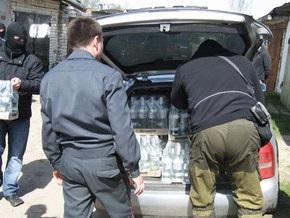 В Донецкой области налоговики изъяли из крупного подпольного цеха алкоголь на 1 млн грн