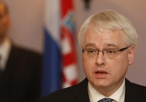 В Украину собирается приехать президент Хорватии