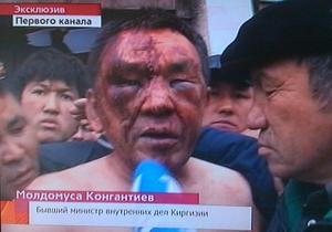 Родственники главы МВД Кыргызстана, усмирявшего протестующих в Таласе, перекрыли дорогу