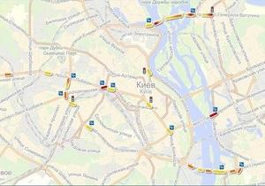 Яндекс назвал наиболее аварийные участки киевских дорог