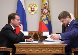 Медведев предложил переизбрать Кадырова главой Чечни