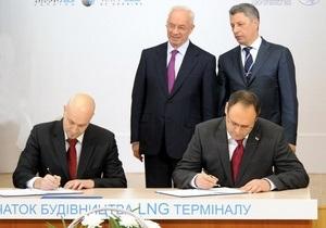 LNG-скандал: Каськив в присутствии Азарова и Бойко подписал ни к чему не обязывающий документ