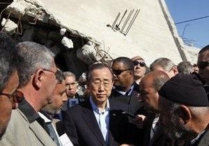 Генсек ООН призвал к снятию блокады сектора Газа, которая причиняет  неприемлемые страдания