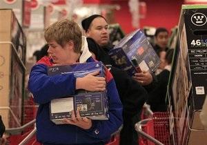 За уик-энд после Дня благодарения американцы купили товаров на рекордные $52 млрд