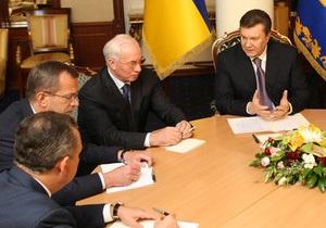 Янукович провел в Борисполе еще одно совещание относительно Налогового кодекса