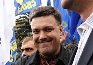 Тягнибок не против повторных выборов: Порвем не только БЮТ, но и Партию регионов