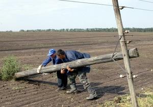 В Украине обесточены 160 населенных пунктов