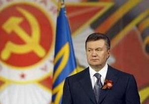 Янукович называет символичным совпадение Дня матери и Дня Победы