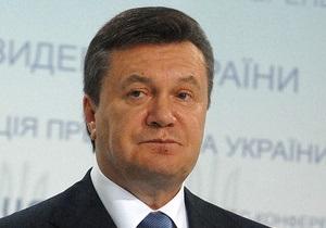 Янукович: Настойчивый труд строителей обеспечивает экономическую стабильность Украины