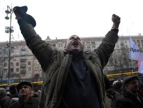 В Киеве проходит многотысячный митинг в поддержку Черновецкого