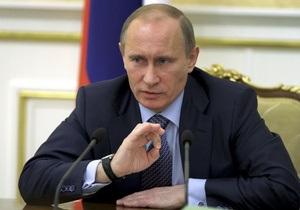Путин поздравил Азарова с 20-й годовщиной Независимости Украины