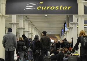 Поезд Eurostar застрял в туннеле под Ла-Маншем