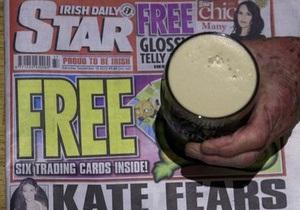 Редактора ирландской газеты, перепечатавшей топлес-фото супруги принца Уильяма, отстранили от должности