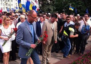 новости Донецка - Яценюк - оппозиция - митинг - Вставай, Украина - Яценюк на митинге: Донецк не принадлежит Януковичу: