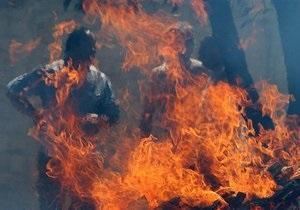новости Киева - ДТП - В Киеве произошло ДТП, которое привело к пожару