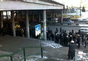 На Индустриальном мосту в Киеве прекращено движение троллейбусов