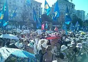 новости Киева - Киевсовет - протесты - У Киевсовета митингуют более трех тысяч человек, их стерегут полторы тысячи правоохранителей
