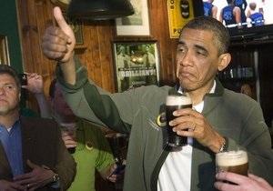 Обама отметил День святого Патрика визитом в паб