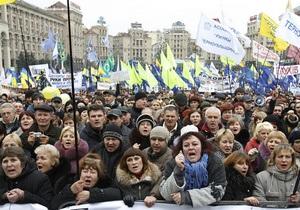 Милиция зафиксировала ряд фактов нарушения общественного порядка во время акции на Майдане