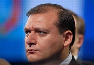Добкин: Глава районной организации ПР увольняется из-за дела против его сына