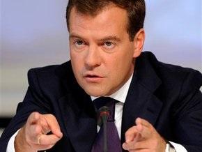 Медведев увидел связь между газовыми проблемами и выборами в Украине