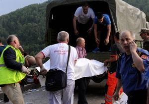 Число жертв автокатастрофы в Черногории возросло до 16-ти человек