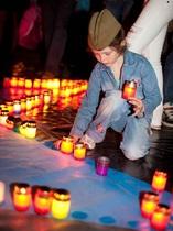 По инициативе компании Киевстар в Одессе создали  Звезду памяти  из 1418 свечей