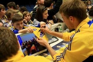 Федерация футбола Украины и adidas провели встречу детей с футболистами сборной Украины