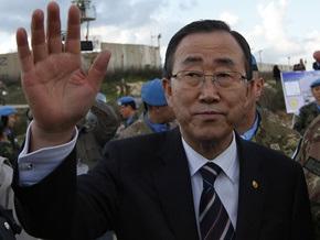 Завтра генсек ООН Пан Ги Мун посетит сектор Газа