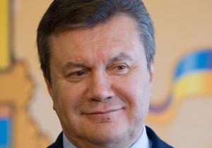Янукович пожелал всем спортсменам крепкого здоровья по случаю Дня физкультуры