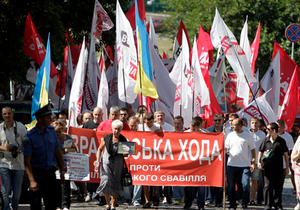 Участники шествия из Врадиевки установили на Майдане две палатки