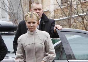 Допрос Тимошенко перенесли на три часа