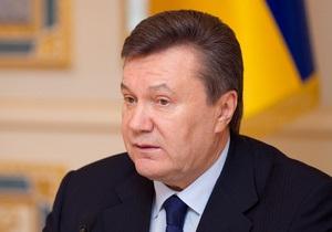 В течение года Янукович нанес 28 зарубежных визитов и подписал 271 закон