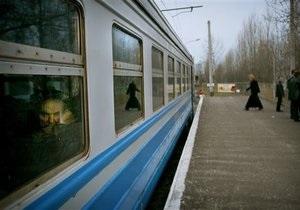 В Киевской области произошел пожар в электричке